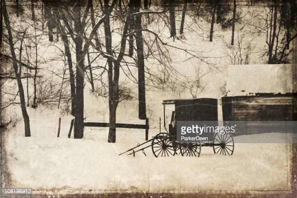 Amish Buggy- Vintage Process