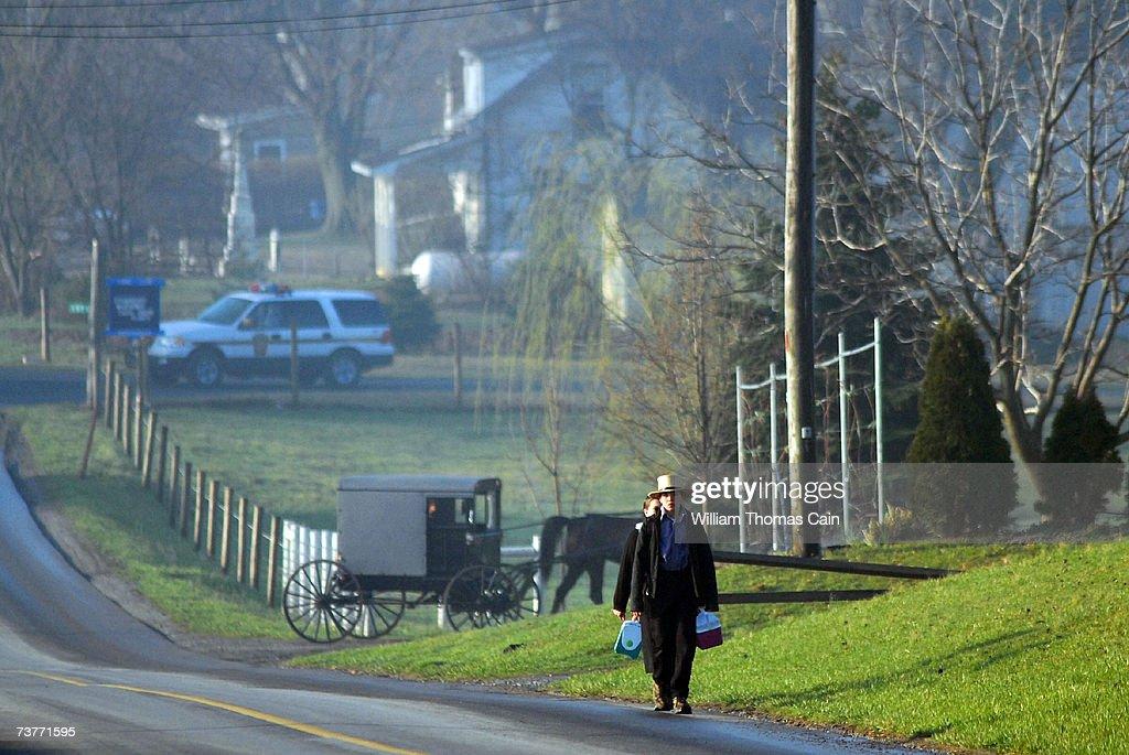 Months After Tragedy, Amish Children Get New Schoolhouse : News Photo