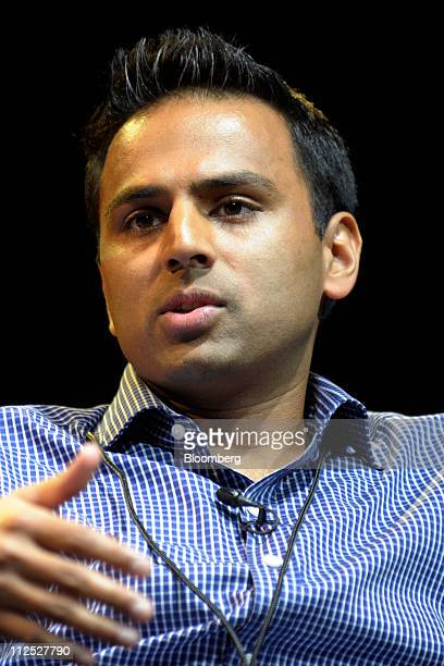 Amish Jani managing director of Firstmark Capital LLC speaks at Bloomberg Link Empowered Entrepreneur Summit in New York US on Thursday April 14 2011...