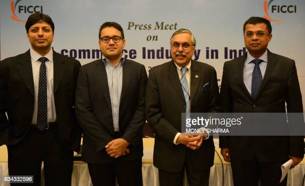Amit Agarwal Country Head Amazon India Kunal Bahl Cofounder and CEO Snapdeal A Didar Singh Secretary General FICCI and Sachin Bansal cofounder...