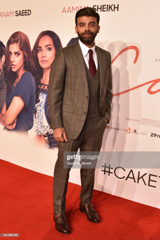 Amit Bhatia attends the UK Premiere of 'Cake' at the Vue West End on March 13, 2018 in London, England.