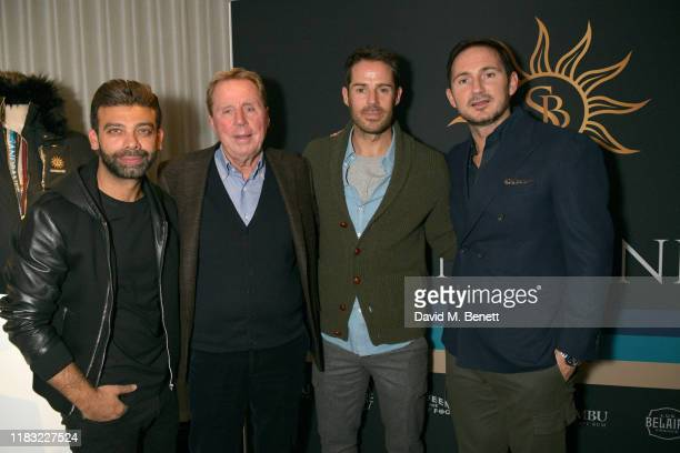 Amit Bhatia Harry Redknapp Jamie Redknapp and Frank Lampard attends the launch of Jamie Redknapp's fashion venture Sandbanks at Yopo The Mandrake...