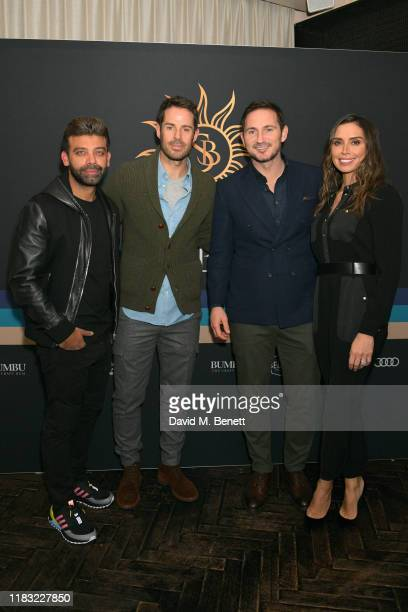 Amit Bhatia Jamie Redknapp Frank Lampard and Christine Lampard attend the launch of Jamie Redknapp's fashion venture Sandbanks at Yopo The Mandrake...