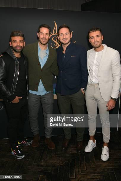 Amit Bhatia Jamie Redknapp Frank Lampard and Josh Cuthbert attend the launch of Jamie Redknapp's fashion venture Sandbanks at Yopo The Mandrake Hotel...