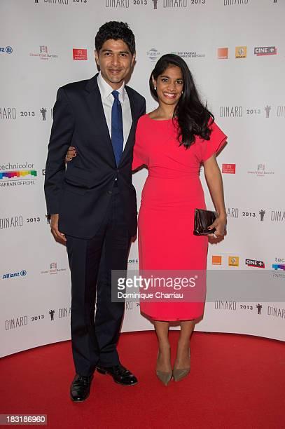 Amit Gupta and Amara Karan attend the Dinard British film festival closing ceremony on October 5 2013 in Dinard France
