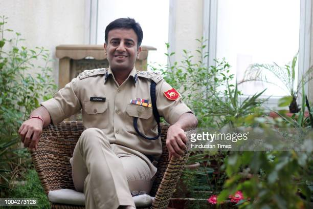 Amit Lodha Deputy Inspector General of the Border Security Force posing for a profile shoot on July 20 2018 in New Delhi India