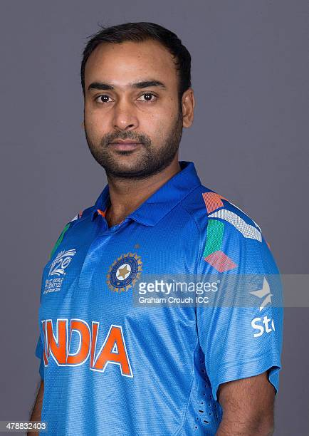 Amit Mishra of India at the headshot session at the Pan Pacific Hotel Dhaka in the lead up to the ICC World Twenty20 Bangladesh 2014 on March 15 2014...