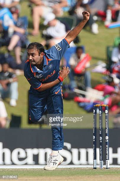 Amit Mishra of India in action during the ICC Champions Trophy Group A match between Australia and India played at Supersport Park on September 28...