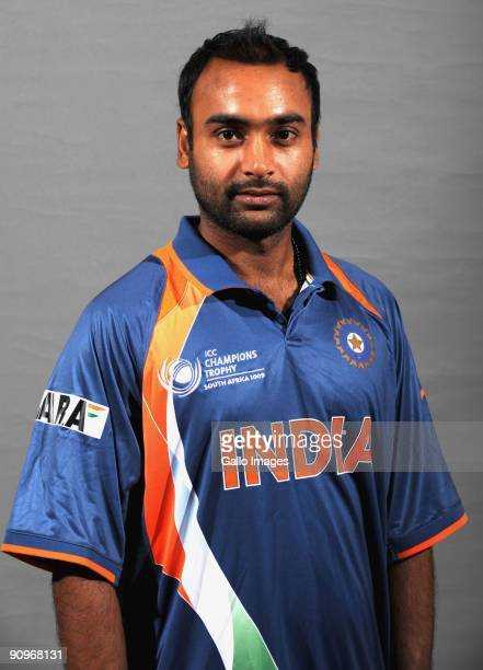 Amit Mishra poses during the ICC Champions photocall session of the Indian cricket team at Sandton Sun on September 19 2009 in Sandton South Africa