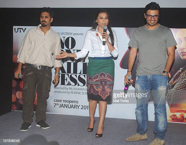 Amit Trivedi and Rani Mukherjee at the Special Press Conference of the film No One kIlled Jessica in Mumbai