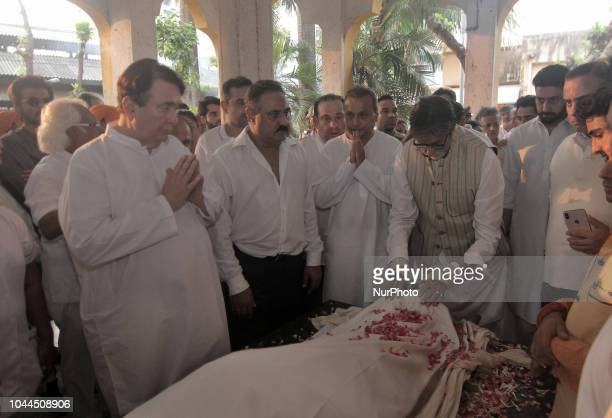 Amitabh Bachchan an Indian film actor paying last tributes to the late Krishna Raj Kapoor who passed away of cardiac arrest in Mumbai on October 01...