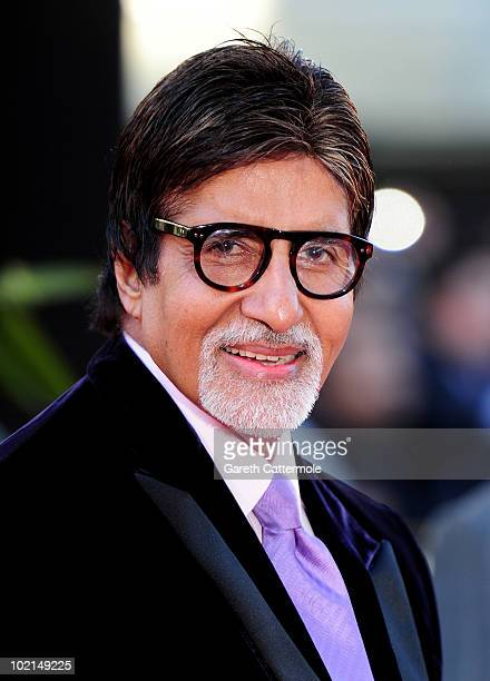 Amitabh Bachchan arrives at the World Premiere of Raavan at the BFI Southbank on June 16 2010 in London England