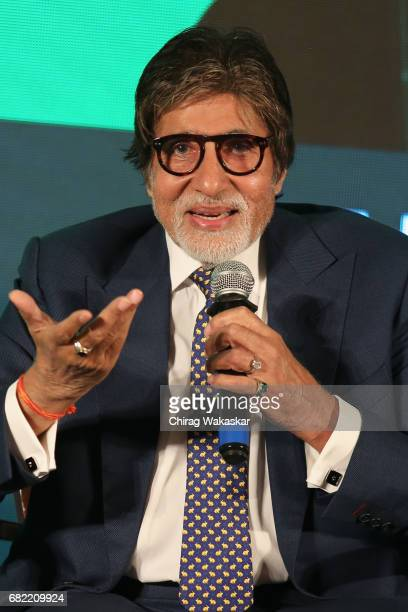 Amitabh Bachchan attends a photocall as he is announced as WHO goodwill ambassador in SouthEast Asia at JW Marriott on May 12 2017 in Mumbai India