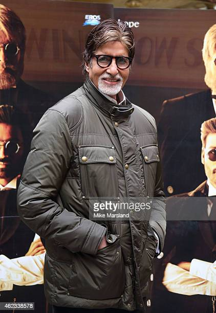 Amitabh Bachchan attends a photocall for 'Shamitabh' at St James Court Hotel on January 27 2015 in London England