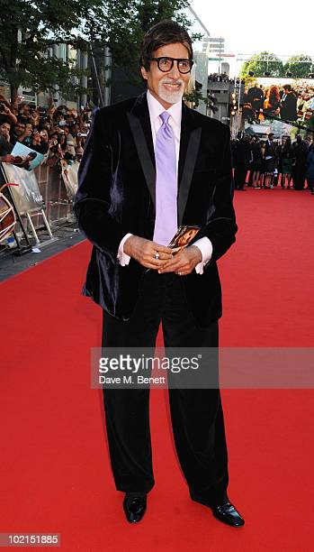 Amitabh Bachchan attends the World film premiere of 'Raavan' at the BFI Southbank on June 16 2010 in London England