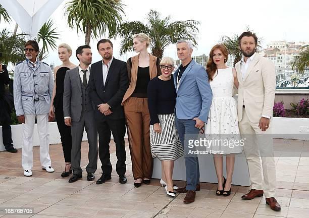 Amitabh Bachchan Carey Mulligan Tobey Maguire Leonardo DiCaprio Elizabeth Debicki Catherine Martin Baz Luhrmann Isla Fisher and Joel Edgerton attend...