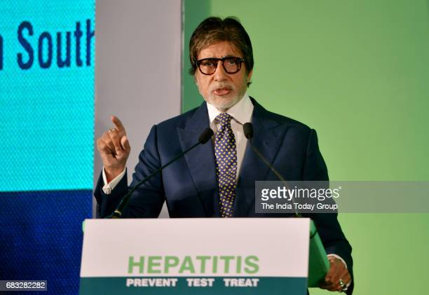 Amitabh Bachchan during the event organised to announce him as the Goodwill ambassador for Hepatitis in SouthEast Asia Region in Mumbai