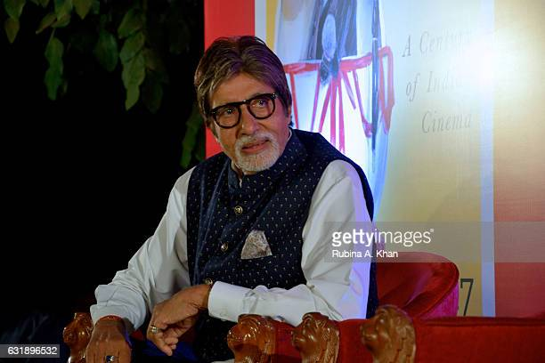 Amitabh Bachchan launches Bhawana Somaaya's book 'Once Upon A Time In India A Century Of Indian Cinema' at The Club on January 17 2017 in Mumbai India