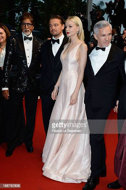 Amitabh Bachchan Leonardo DiCaprio Carey Mulligan and Baz Luhrmann attend the Opening Ceremony and 'The Great Gatsby' Premiere during the 66th Annual...
