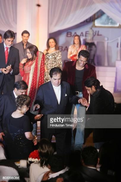 Amitabh Bachchan Rani Mukherjee Salman Khan Abhishek Bachchan Ravi Chopra Saira Banu and Dilip Kumar at the music launch of Baabul