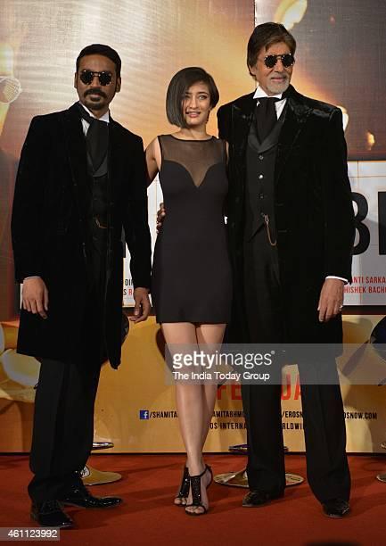 Amitabh BachchanDhanush and Akshara Haasan at the trailer launch of SHAMITABH