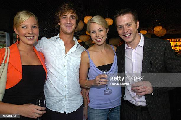 Amity Kershaw Charles Magnus Kath Hubbard and Chris Murray at the VIP wine sale at Bungalow 8 King Street Wharf Sydney 15 March 2006 SHD Picture by...