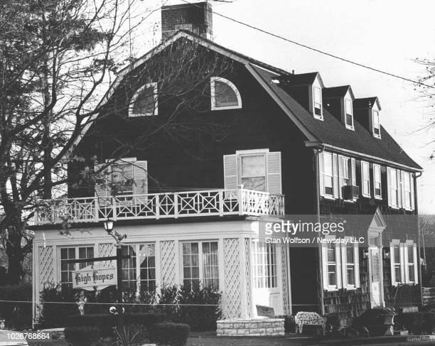 Exterior of the house where Ronald DeFeo murdered his family taken on Nov14 1974