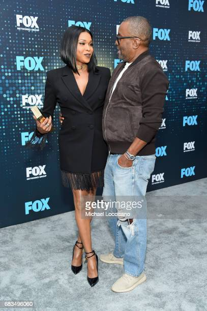 Amiyah Scott and Lee Daniels attend the 2017 FOX Upfront at Wollman Rink Central Park on May 15 2017 in New York City