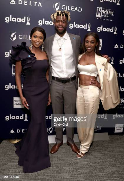 Amiyah Scott Reggie Bullock and Angelica Ross attend the 29th Annual GLAAD Media Awards at The Hilton Midtown on May 5 2018 in New York City