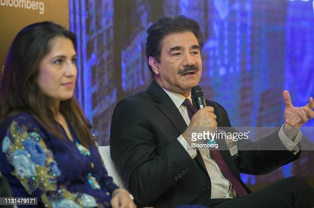 Amjad Waheed chief executive officer of NBP Fund Management Ltd speaks during the Bloomberg Pakistan Economic Forum in Karachi Pakistan on Monday...