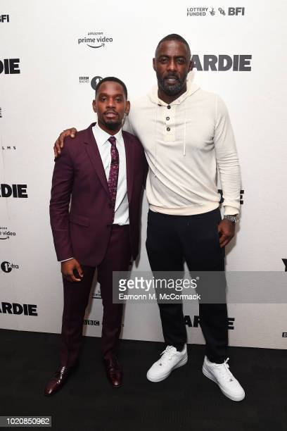 Aml Ameen and Idris Elba attend the Premiere of Yardie Yardie is released in UK cinemas on 31st August at BFI Southbank on August 21 2018 in London...