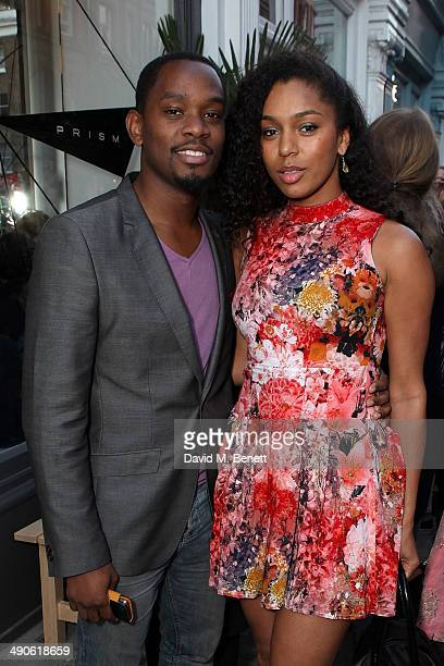 Aml Ameen and Portia Freno at the Prism Boutique Summer Party on Chiltern Street on May 14 2014 in London England