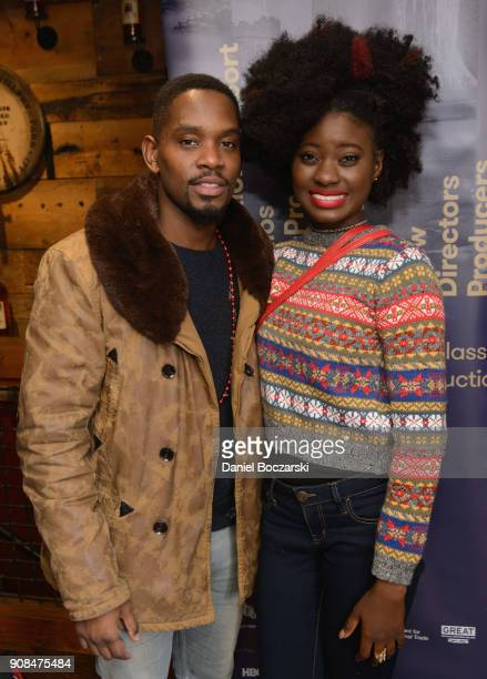 Aml Ameen and Shantol Jackson attend Brunch with the Brits during the 2018 Sundance Film Festival on January 21 2018 in Park City Utah