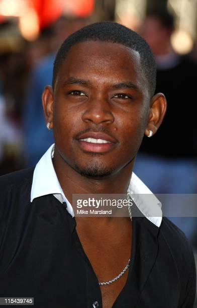 Aml Ameen attends the UK premiere of 'Adulthood' at Empire Leicester Square on June 17 2008 in London England