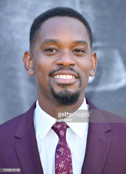 Aml Ameen attends the UK premiere of 'Yardie' at the BFI Southbank on August 21 2018 in London England