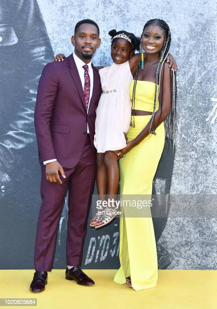 Aml Ameen MylaRae Hutchinson Dunwell and Shantol Jackson attend the UK premiere of 'Yardie' at the BFI Southbank on August 21 2018 in London England