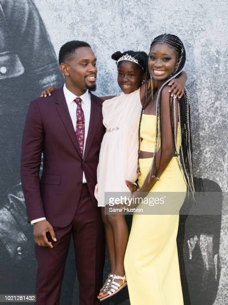 Aml Ameen MylaRae Hutchinson Dunwell and Shantol Jackson attend the UK premiere of 'Yardie' at BFI Southbank on August 21 2018 in London England