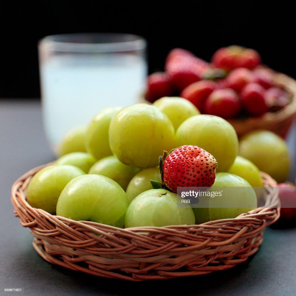 Amla (Indian Gooseberry) Juice : Stock Photo