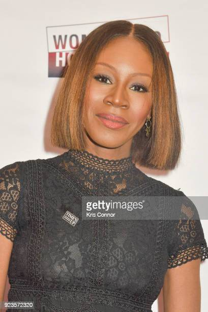Amma Asanate attends the 2018 Athena Film Festival Awards Ceremony at The Diana Center At Barnard College on February 23 2018 in New York City