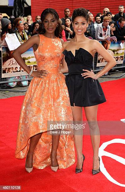 Amma Asante and Gugu MbathaRaw attends the UK premiere of 'Belle' at The BFI Southbank on June 5 2014 in London England