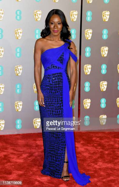 Amma Asante attends the EE British Academy Film Awards at Royal Albert Hall on February 10 2019 in London England