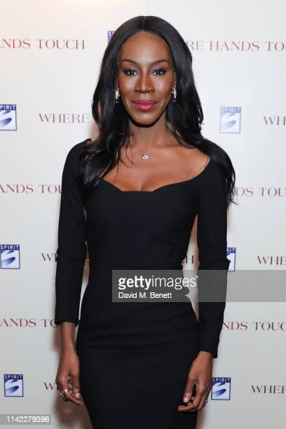 """Amma Asante attends the London Premiere of """"Where Hands Touch"""" at The Curzon Mayfair on May 8, 2019 in London, England."""
