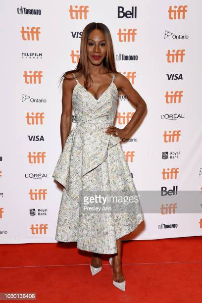Amma Asante attends the Where Hands Touch premiere during 2018 Toronto International Film Festival at Winter Garden Theatre on September 9 2018 in...