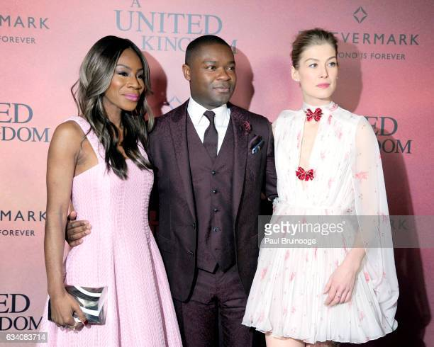 Amma Asante David Oyelowo and Rosamund Pike attend Forevermark Presents the World Premiere of Fox Searchlight's 'A United Kingdom' at The Paris...