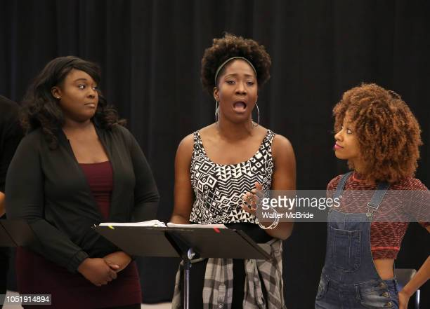 Amma Osei Amber Iman Allison Semmes In Rehearsal with the Kennedy Center production of 'Little Shop of Horrors' on October 11 2018 at Ballet...