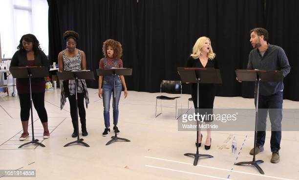 Amma Osei Amber Iman Allison Semmes Megan Hilty and Josh Radnor In Rehearsal with the Kennedy Center production of 'Little Shop of Horrors' on...