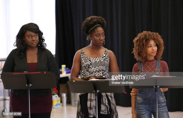 Amma Osei Amber Iman and Allison Semmes In Rehearsal for the Kennedy Center production of 'Little Shop of Horrors' at Ballet Hispanica on October 11...