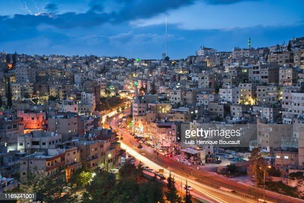 amman and sunset - dead sea stock pictures, royalty-free photos & images
