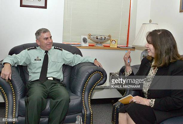 AFP bureau chief Randa Habib interviews General John Abizaid the commander of US forces in the Middle East 28 March 2006 in Amman Abizaid told AFP...