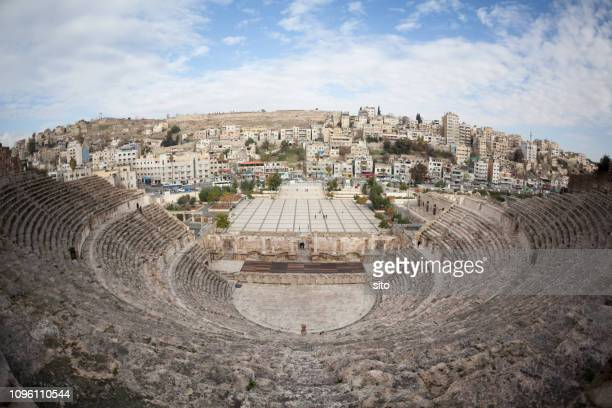 amman roman amphitheatre, jordan - amman stock pictures, royalty-free photos & images